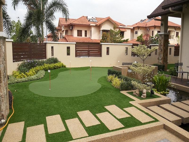 Residential landscape johor bahru house landscape johor for Koi pond johor bahru